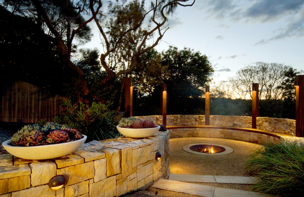 When installing a fire pit consider aesthetics and safety