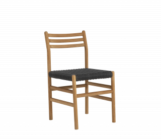 Walker Dining Chair - Charcoal Weave